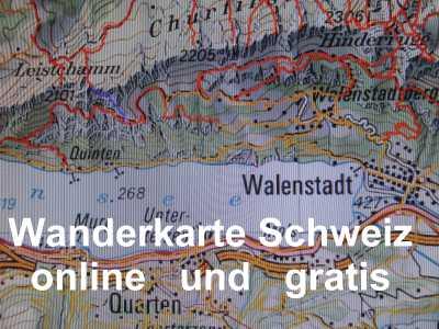 Landkarten und Wanderkarten Schweiz online und gratis